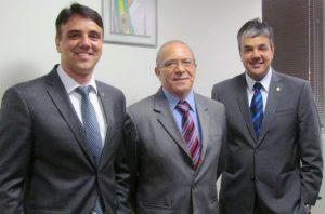 Sérgio e Fábio Reis visita ministro da Aviação