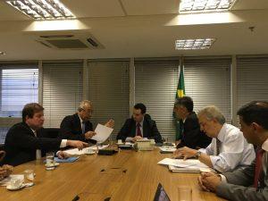 Fábio Reis visita ministro Kassab com governador