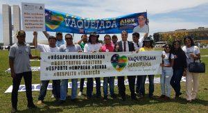 Fábio Reis participa de mobilização em favor da vaquejada